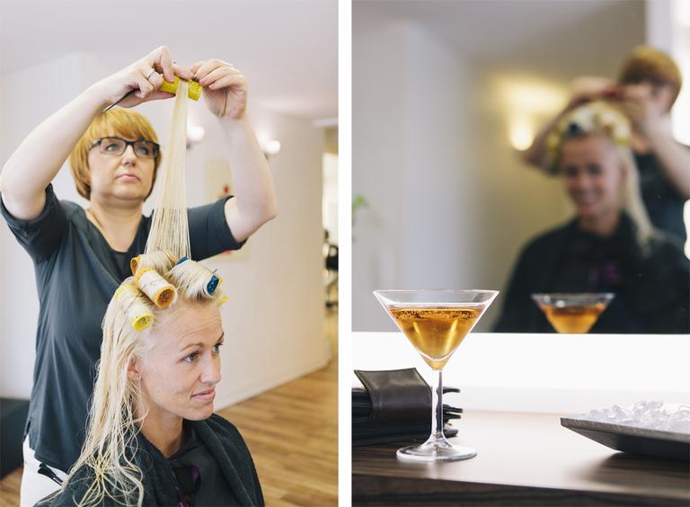 Bilder von der Braut beim Friseur in Gronau