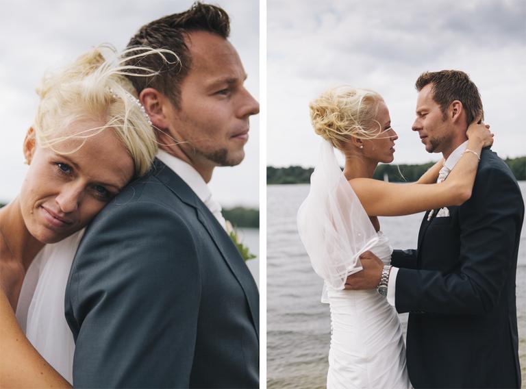Bilder zeigen das Brautpaar am Drilandsee ind Gronau beim Brautpaarshooting