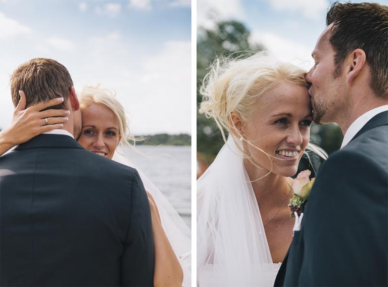Bilder zeigen die Braut und den Bräutigam beim Brautpaarshooting am Drilandsee
