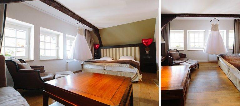 Hotelzimmer vom Brautpaar Walhalla Romantikhotel