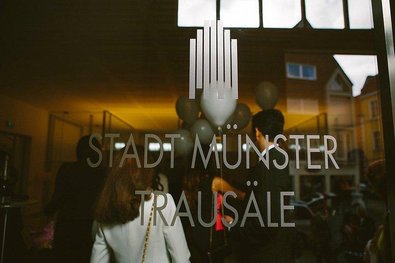 Schild vom Standesamt Münster