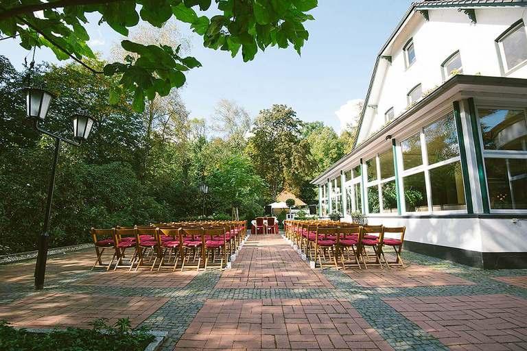 Ort der Freien Trauung im Schlossgarten Münster