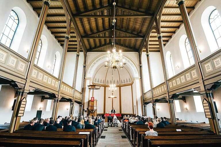 Evangelische Kirche Ladbergen Innenansicht