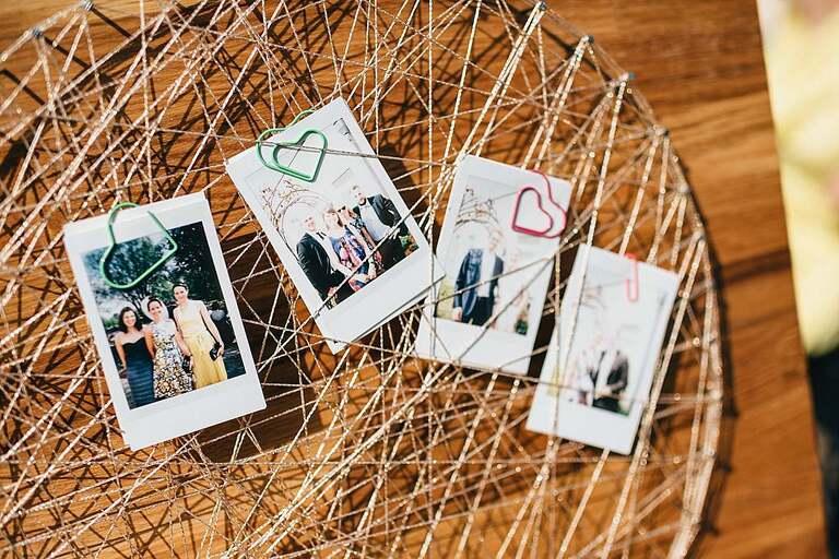 Instax Bilder von den Hochzeitsgästen