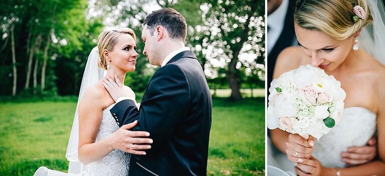 Braut und Bräutigam im Garten - Hochzeitsfotograf Beverland - Hochzeitsreportage Beverland - Hochzeitsreportage Beverland