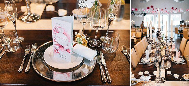 Eingedeckte Tische im Beverland - Hochzeitsfotograf Beverland - Hochzeitsreportage Beverland - Hochzeitsreportage Beverland