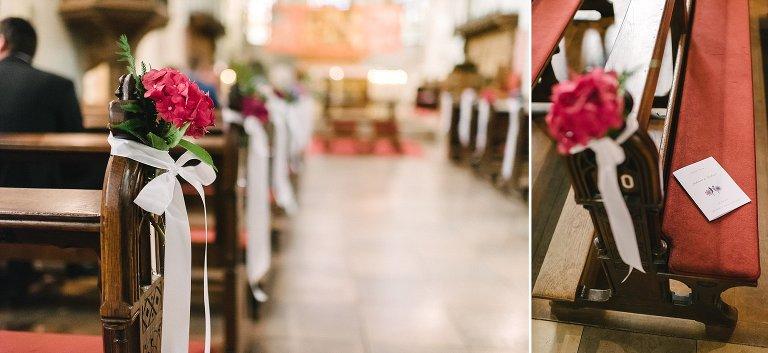 Blumenschmuck in der Kirche in Warendorf ©Markus Koslowski Hochzeitsfotograf Warendorf