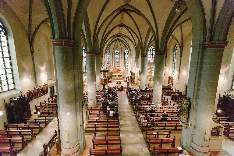 Weitwinkelaufnahme der Laurentiuskirche in Warendorf ©Markus Koslowski Hochzeitsfotograf Warendorf