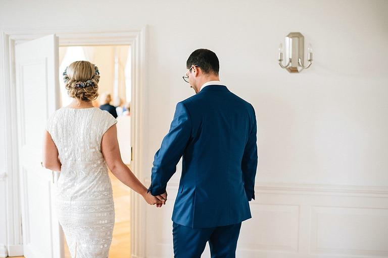 Brautpaar kurz vor der Trauung
