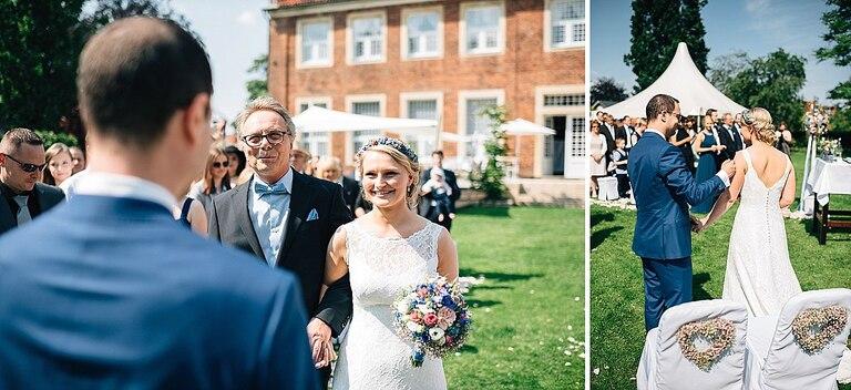 Braut mit Ihrem Vater