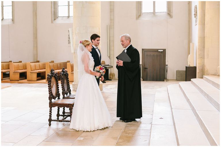 Brautpaar in der Apostelkirche Münster
