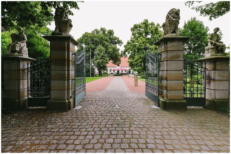 Einfahrt zum Gut Havichhorst in Münster