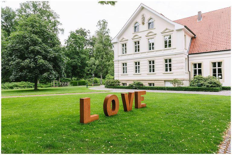 Hochzeitsdedeko am gut Havichhorst in Münster