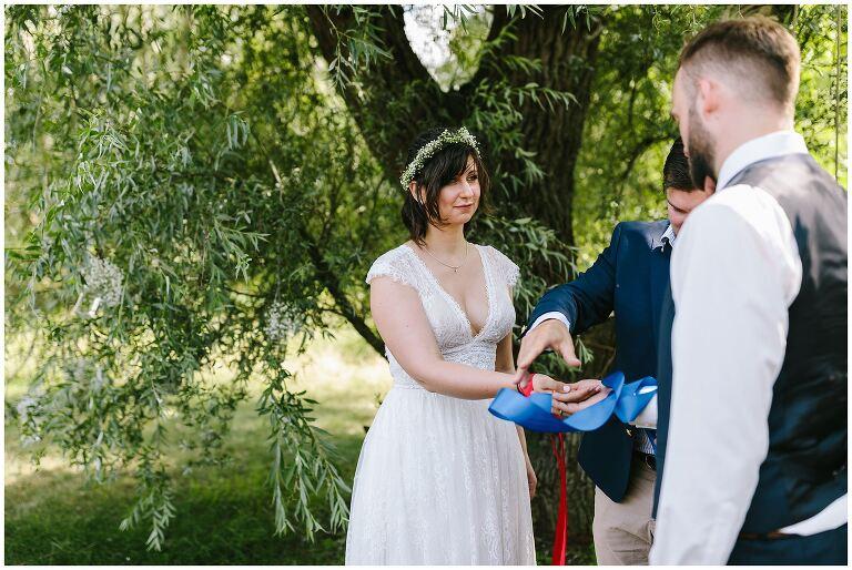 Braut und Bräutigam werden verbunden