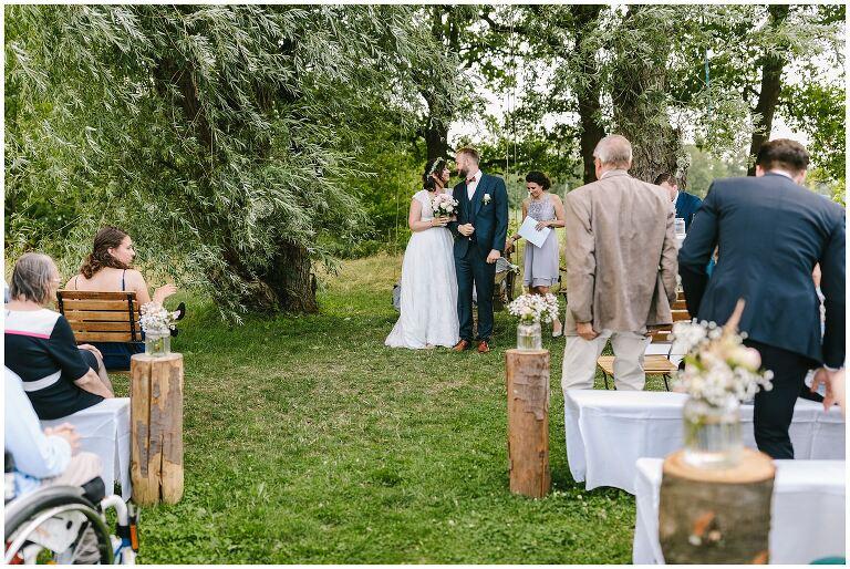 Auszug des Brautpaares nach der Freien Trauung