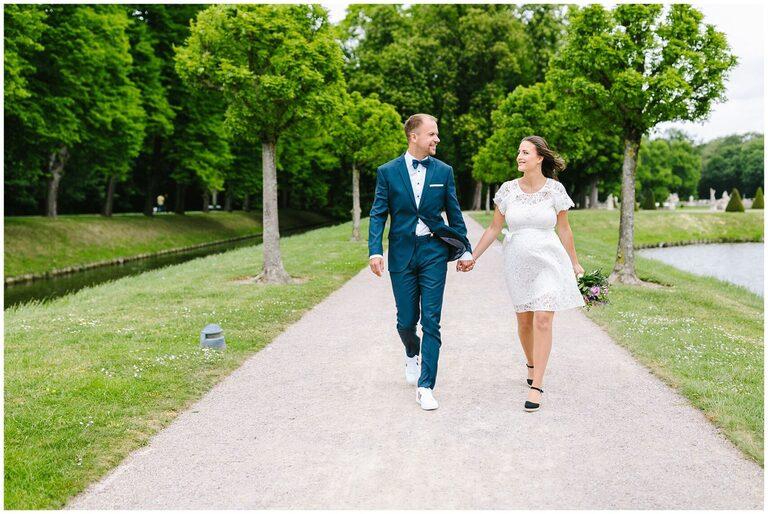 Brautpaar im Schlosspark Nordkirchen