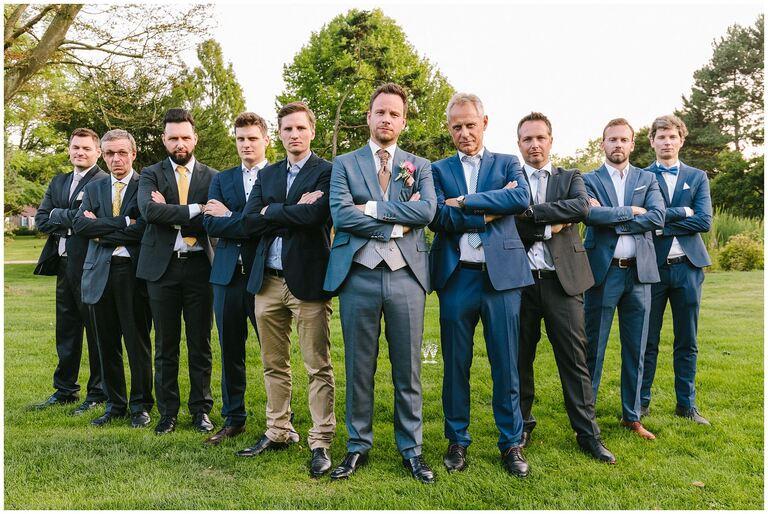 Gruppenbild Bräutigam mit Männern