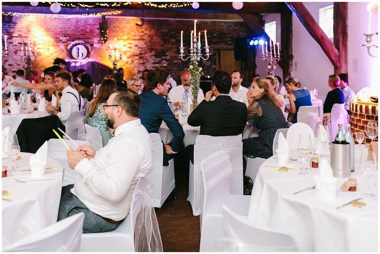 Hochzeitsgesellschaft im Restaurant Gottesgabe in Rheine